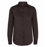 Mos Mosh Lange mouw blouse 129000 martina shirt bruin