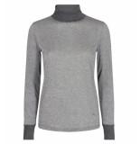 Mos Mosh Lange mouw t-shirt 128890 casio grijs grijs melange