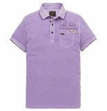 PME Legend Short sleeve polo rugged pique viola paars