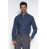 Tommy Hilfiger Casual overhemd met lange mouwen blauw