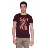 Scotch & Soda T-shirt met korte mouwen bruin