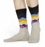 Happy Socks Faded diamond fad01-9500-41 grijs
