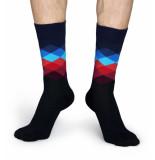 Happy Socks Faded diamond fd01-069-41 zwart
