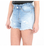 Pinko Ley rouches shorts denim blauw
