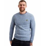 Lyle and Scott Knitwear cable jumper blauw
