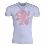 Montanello Shirt leeuw strass stenen wit