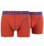 Zaccini 2pack boxershorts oranje