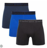 Bamboo Basics 3pack heren boxershorts zwart navy blauw