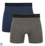 Bamboo Basics 2pack heren boxershorts blauw grijs