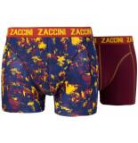 Zaccini 2pack boxershorts uni splash navy oranje