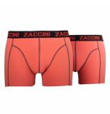 Zaccini 2pack boxershorts uni oranje