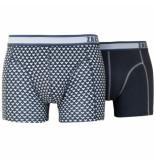 Zaccini Pack boxershorts triangle dark grey combi grijs