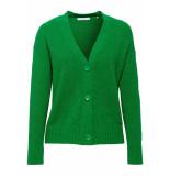 EDC Vest van zomers boucle 049cc1i005 c300 groen