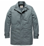Cast Iron Cja191504 5229 long jacket rain car coat goblin blue blauw