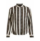 Object Objtara l/s shirt i. 104 23030134 gardenia/aop wit