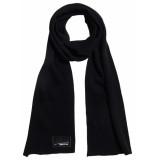 Superdry Orange label scarf black zwart