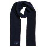 Superdry Orange label scarf navy grit blauw