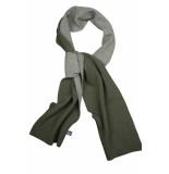 Profuomo Pp1s30010d/3 shawls 40% wol / 30% viscose / 20% polyamide / 10% kasjmier groen