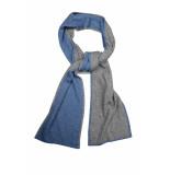 Profuomo Ppps30005b/3 shawls 30% wol / 30% viscose / 25% polyamide / 15% zijde blauw
