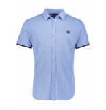 Jack & Jones Jcoadam shirt ss plain 12154667 victoria blue/slim blauw