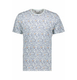 Only & Sons Onstrey reg ss aop tee 22015169 blue ice blauw