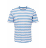 Only & Sons Onscole striped ss tee vd 22013579 blue bell/white blauw