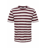 Only & Sons Onscole striped ss tee vd 22013579 zinfandel/white roze