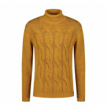 Genti Roll neck knit yellow geel