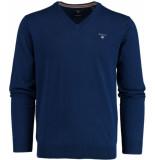 Gant Wool v-neck 83102/482 blauw