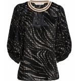 Summum T-shirts tops 127356 zwart
