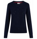 HV Polo Pullover 0401103157 crista blauw