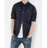 G-Star Overhemd trendy looking navy blauw