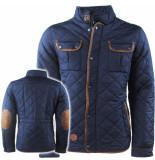 Hite Couture Heren winterjas navy blauw