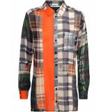 Summum 2s2314-10984 120 blouse patchwork check multicolour