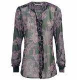 Summum 2s2304-10980 670 blouse flower print forest green