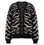 Catwalk Junkie Cardigan fuzzy tiger zwart