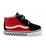 Vans - sk8-mid reissue vn0a348jvi71 / wit / rood zwart