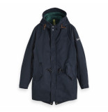 Scotch & Soda hooded parka blauw