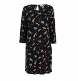 Liu Jo Midi-jurk o-shape zwart tijger