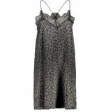 10 Days Lace dress shiny 20 316 8103 black zwart