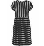 Noisy may Nmmelissa s/s above knee dress 2 27006197 black/snow white zwart