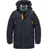 PME Legend Long jacket ice pilot 3.0 navy blauw