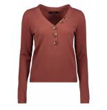 Vero Moda Vmchip karis ls v-neck button blous 10215761 mahogany bruin