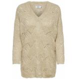 Only Onlhavana l/s v-neck pullover cc kn 15181406 pumice stone/melange beige