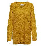 Only Onlhavana l/s v-neck pullover cc kn 15181406 golden yellow geel