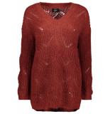 Only Onlhavana l/s v-neck pullover cc knt 15181406 merlot rood