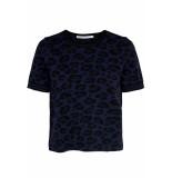 Only Onlzandra s/s pullover knt 15183661 night sky/w. black blauw