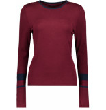 Only Onyemily l/s pullover knt 15185868 tawny port/w. night sky roze