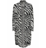 Only Onlnew maye l/s cardigan box cc knt 15179826 light grey mela/w. zebra grijs