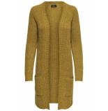 Only Onlbernice l/s cardigan knt noos 15165076 golden glow/w. melange geel